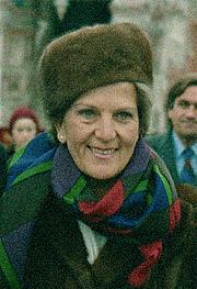 Fotografia de autor. Hazel Hawke in Moscow in 1987.