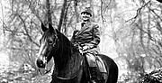 Forfatter foto. Mary Breckinridge on horseback