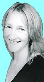 Författarporträtt. Linda Chapman, one of the authors who uses the name Jenny Dale