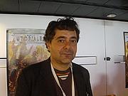 Foto do autor. Tommaso Pincio aux Utopiales 2011-11-12