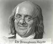 Foto do autor. as Benjamin Franklin