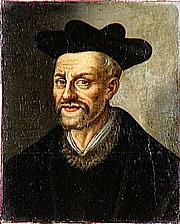 Autoren-Bild. Portrait de François Rabelais (1483–1559); anonyme; 17e siècle; huile sur toile; 0,48 H, 0,40 L; Musée national du château et des Trianons, Versailles