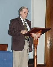 Foto de l'autor. 2008 Golden Dawn Conference, Swedenborg Hall, London