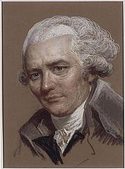 Författarporträtt. Pierre-Ambroise-François Choderlos de Laclos (1741-1803). Pastel sur papier brun collé en plein sur un papier fort au Musée du Louvre, par Maurice Quentin de La Tour (attribué à)