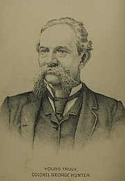 Kirjailijan kuva. from Author's autobiography Reminiscences of an Old Timer (1887)