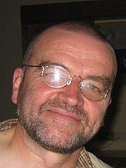 Kirjailijan kuva. Taken at the World SF Convention in Glasgow 2005.