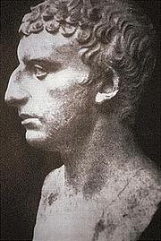 Författarporträtt. Roman bust supposed to represent Flavius Josephus (identification is unsure though)
