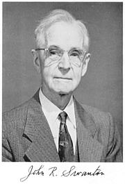"Foto de l'autor. From <a href=""http://www.nasonline.org/publications/biographical-memoirs/memoir-pdfs/swanton-john.pdf"" rel=""nofollow"" target=""_top"">John Swanton biographical memoir</a>, National Academy of Sciences, 1960."