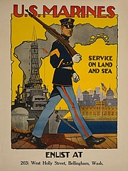 Foto do autor. U.S. Marine Corps - Service on land and sea / Sidney H. Riesenberg: Library of Congress Prints and Photographs Division (REPRODUCTION NUMBER:  LC-USZC4-9855)