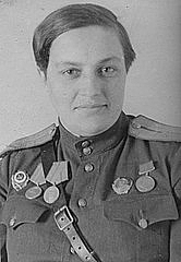 Foto de l'autor. Hero of the Soviet Union Lyudmila Mikhailovna Pavlichenko, 1943