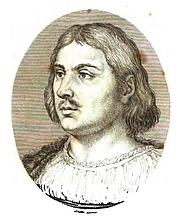 Författarporträtt. Portrait of Giovanni Boccaccio from Il decameron di Messer Giovanni Boccaccio (Firenze : Ciardetti, 1822).