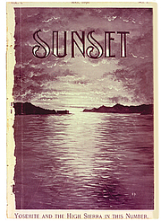 Forfatter foto. Sunset magazine cover, Volume One, Number One, May 1898