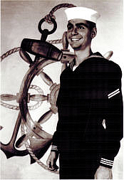 Forfatter foto. Robert Sward while he was in the U.S. Navy