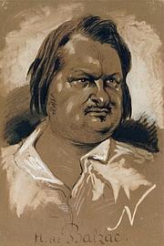 Fotografia de autor. Honoré de Balzac par Nadar (1820-1910), dessinateur, 1835.<br><i>Dessin au fusain rehaussé de gouache, sur papier brun</i>