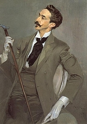Foto do autor. Robert de Montesquiou (by Giovanni Boldini, 1897)