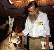 Kirjailijan kuva. At Necronomicon '90.