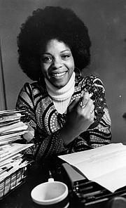 Kirjailijan kuva. Margaret Busby, 1971.