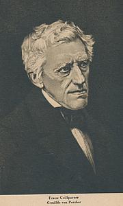 Forfatter foto. Franz Grillparzer (1791-1872)