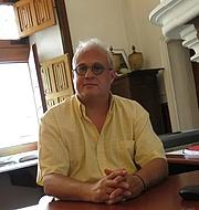 Foto do autor. Eric Palazzo en septembre 2017 lors d'un entretien avec le journal 'La Nouvelle République' à l'occasion de sa nomination pour un an à l'nstitute for Advanced Study de Princeton, USA