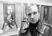 "Författarporträtt. Francis Bacon at the Claude Bernard Gallery, Paris, 1977, photo by John Minihan at <a href=""www.johnminihan.com/bacon.html"" rel=""nofollow"" target=""_top"">JohnMinihan.com</a>"