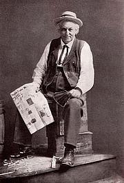 "Foto do autor. Cal Stewart as ""Uncle Josh"" Weathersby. Ca 1900."