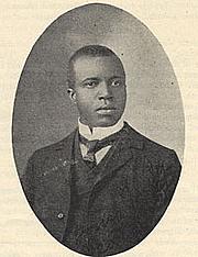 "Foto de l'autor. [Portrait of Scott Joplin], taken from <i>American Musician</i> (June 17, 1907). Performing Arts Reading Room, Library of Congress. (<a href=""http://memory.loc.gov/ammem/index.html"">memory.loc.gov</a>)"