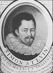 Författarporträtt. Simon Stevin<br> (Brugge 1548 - Den Haag/Leiden 1620)<br> Schilderij, herkomst onbekend,<br> bezit Universiteitsbibliotheek Leiden.