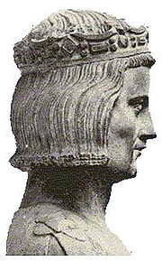 Foto do autor. Saint Louis IX / Representation of Saint Louis considered to be true to life, early 14th century. Statue from the church of Mainneville, Eure, France.