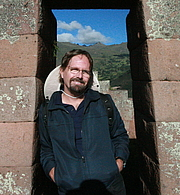 Author photo. Kim MacQuarrie, at Inca ruins of Pisac in the Sacred Valley of Peru