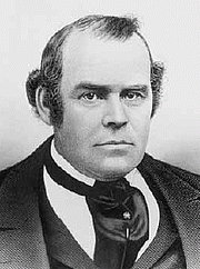 Foto do autor. Photo of Parley P. Pratt, a leader in the Latter Day Saint movement and one of the original members of the Quorum of the Twelve Apostles.