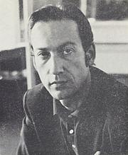 Foto de l'autor. Claude Cariguel en 1967 dans une présentation à l'intéreur de son livre 'L'insolence' paru aux éditions Robert Laffont