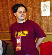 Författarporträtt. Small Press Expo 2002, photo by Lampbane