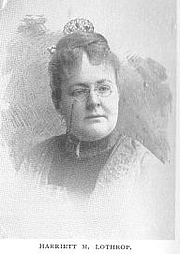 Författarporträtt. Harriett Mulford (Stone) Lothrop [pen-name Margaret Sidney] (b.1844), Buffalo Electrotype and Engraving Co., Buffalo, N.Y.