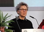 Foto do autor. Esther Kinsky auf der Leipziger Buchmesse 2018 /Wikipedia