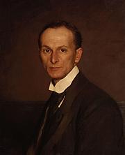 Forfatter foto. Portrait of Marion Spielmann by John Henry Frederick Bacon