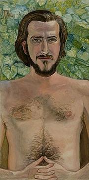 Författarporträtt. Portrait by Sylvia Sleigh (1970).