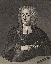 Foto do autor. John Theophilus Desaguliers (pronounced day-za-güly-ay) (12 March 1683 – 29 February 1744) was a natural philosopher born in France. He was a member of the Royal Society of London beginning 29 July 1714. He was presented with the Royal Society's highest honour, the Copley Medal, in 1734, 1736 and 1741, with the 1741 award being for his discovery of the properties of electricity. He studied at Oxford, became experimental assistant to Sir Isaac Newton, and later popularized Newtonian theories and their practical applications. He has been credited as the inventor of the planetarium, on the basis of some plans he published.