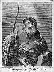 Foto do autor. Saint Francis of Paola / Engraving by Marco Pitteri, after Federiko Benković.