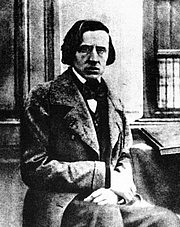 Foto do autor. The only known photograph of Frédéric Chopin, taken by Louis-Auguste Bisson in 1849. (Public domain; Wikipedia)