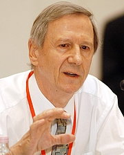 Fotografia de autor. This picture was taken at the Progressive Governance Conference at Budapest, 13 October, 2004. The author of the picture is Szusi.