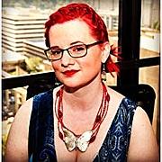 Kirjailijan kuva. Author picture from their Amazon page