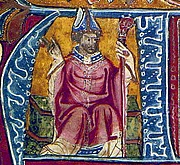Fotografia de autor. 14th-century portrait, in the British Library