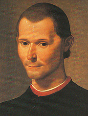 Photo de l'auteur(-trice). Santi di Tito's portrait of Niccolò Machiavelli, cropped.<br>