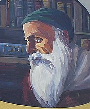 "Autoren-Bild. Wall painting of Rabbi Moses ben Nachman , at the wall of Akko's Auditorium. By Chesdovi - Cropped from File:Rabbi Moses ben Nachman (Nahmanides) - Wall painting in Acre, Israel.jpg, CC BY-SA 3.0, <a href=""https://commons.wikimedia.org/w/index.php?curid=7708383"" rel=""nofollow"" target=""_top"">https://commons.wikimedia.org/w/index.php?curid=7708383</a>"
