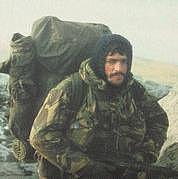 Foto de l'autor. From the cover of Falklands Commando