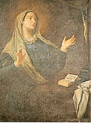 "Forfatter foto. Painting depicting Saint Catherine of Genoa By Giovanni Agostino Ratti - Davide Papalini, Public Domain, <a href=""https://commons.wikimedia.org/w/index.php?curid=7107260"" rel=""nofollow"" target=""_top"">https://commons.wikimedia.org/w/index.php?curid=7107260</a>"