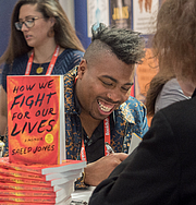 """Author photo. Saeed Jones at BookExpo at the Javits Center in New York City, May 2019. By Rhododendrites - Own work, CC BY-SA 4.0, <a href=""""https://commons.wikimedia.org/w/index.php?curid=79387604"""" rel=""""nofollow"""" target=""""_top"""">https://commons.wikimedia.org/w/index.php?curid=79387604</a>"""