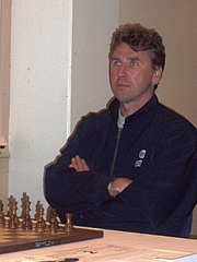 Author photo. Chess grandmaster Simen Agdestein at Arctic Chess Challenge, Tromsø august 2008