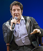 Forfatter foto. Robert Lepage, playwright, actor, film director, and stage director from Québec City, Québec, and one of Canada's most honoured theatre artists at the European première of TOTEM in Amsterdam