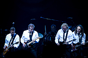 Foto do autor. The Eagles band from California. From left to right are: Glenn Frey, Don Henley, Joe Walsh, and Timothy B. Schmit during their Long Road out of Eden Tour in 2008. Photo by Steve Alexander